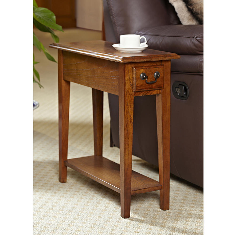 Oak End Tables With Storage ~ Wood end table chair side coffee storage drawer living
