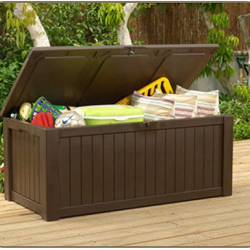 Deck Box Storage Table Bench Locking Outdoor Patio Back Yard Furniture Garden Other