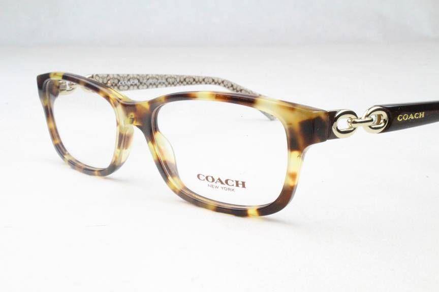 New Coach Eyeglass Frames : New Authentic Coach HC6052 5238 Fannie Tortoise Eyeglass ...