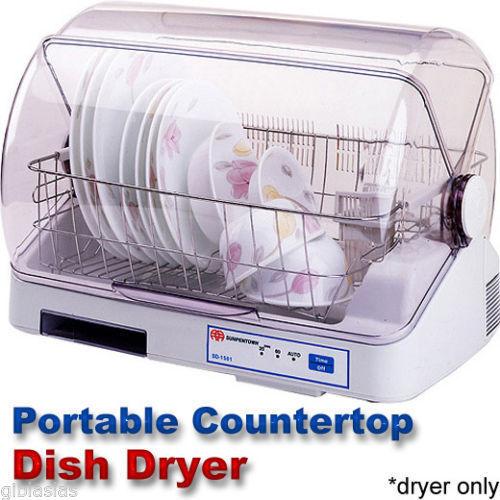 Portable Countertop Dish Bottle Dryer Kitchen Appliance Rack Drainer ...