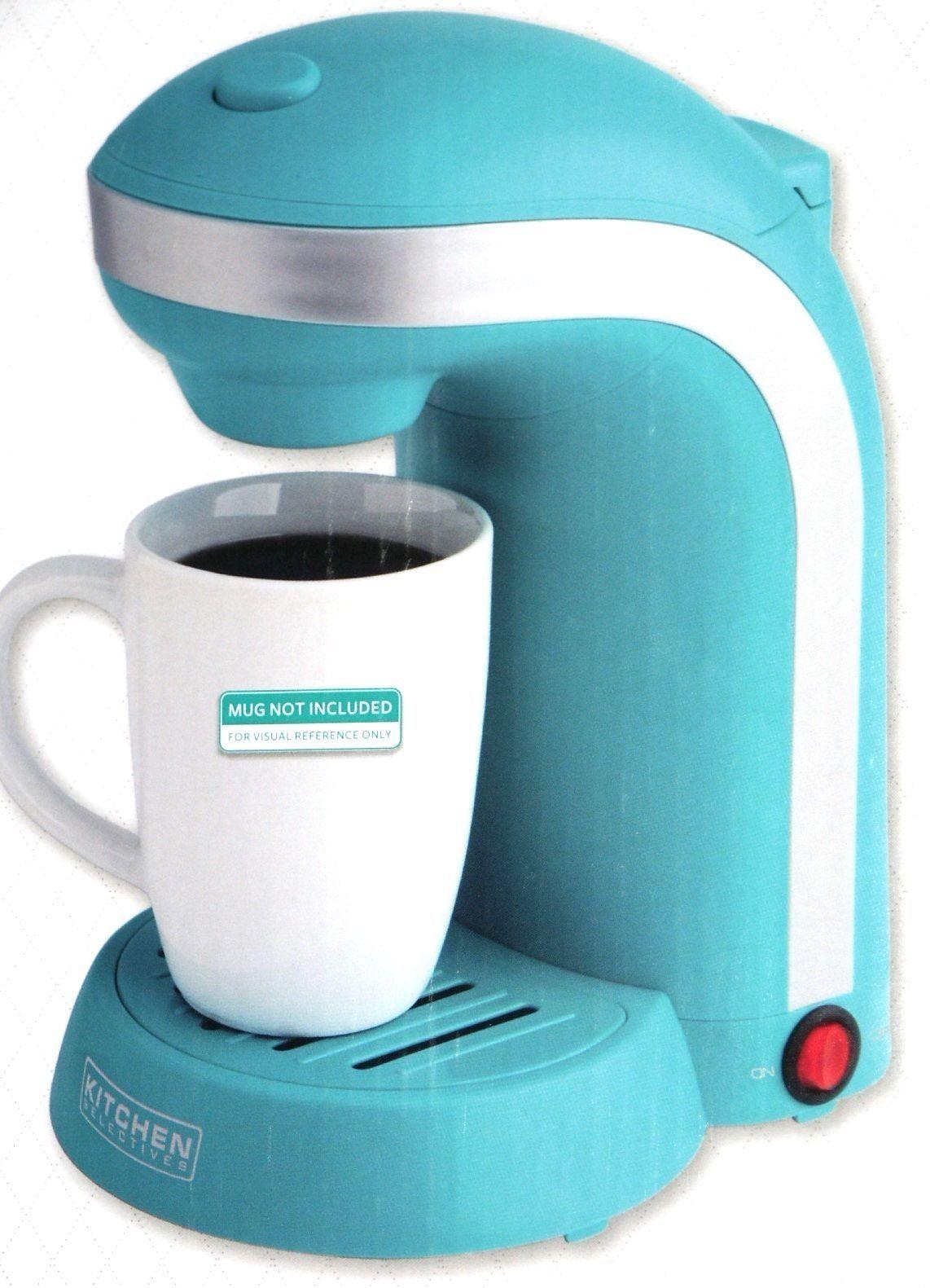 New Kitchen Selectives Colors Single Serve Coffee Maker Teal Blue (mug not incl) - Single Serve ...