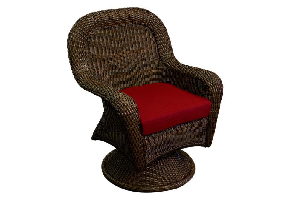 Tortuga Outdoor Lexington Swivel Rocking Dining Chair Java Chairs