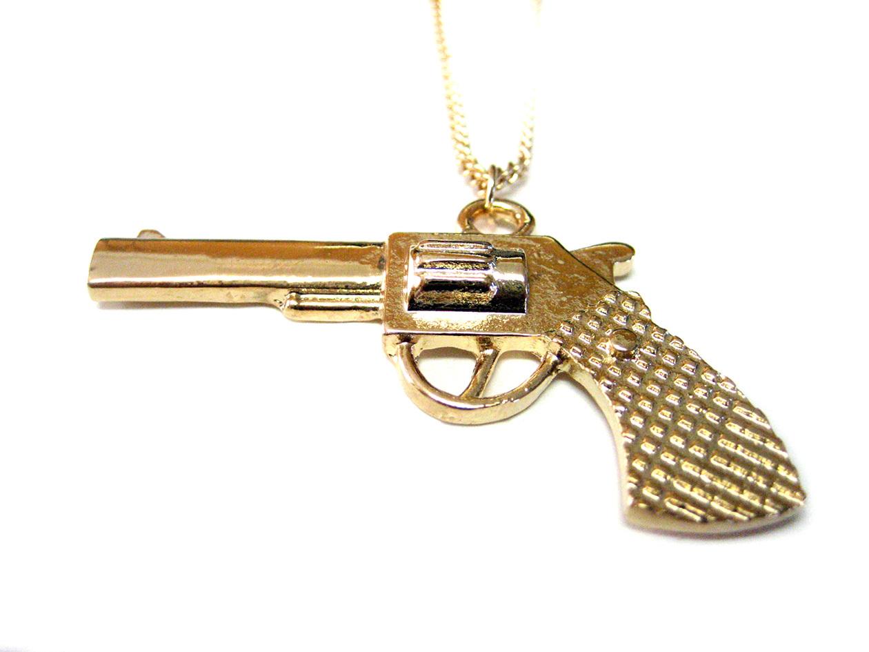 gun pendant necklace necklaces pendants