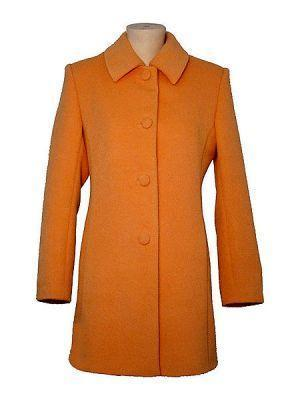 Orange midi Coat, made of  Babyalpaca wool,outerwear