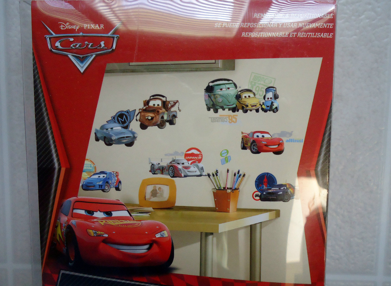 Disney pixar cars peel stick wall decals for playroom for Disney pixar cars wall mural