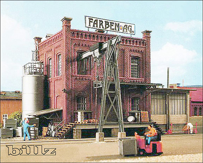 KIBRI HO 9786 - Small Factory Building with Crane - KIT