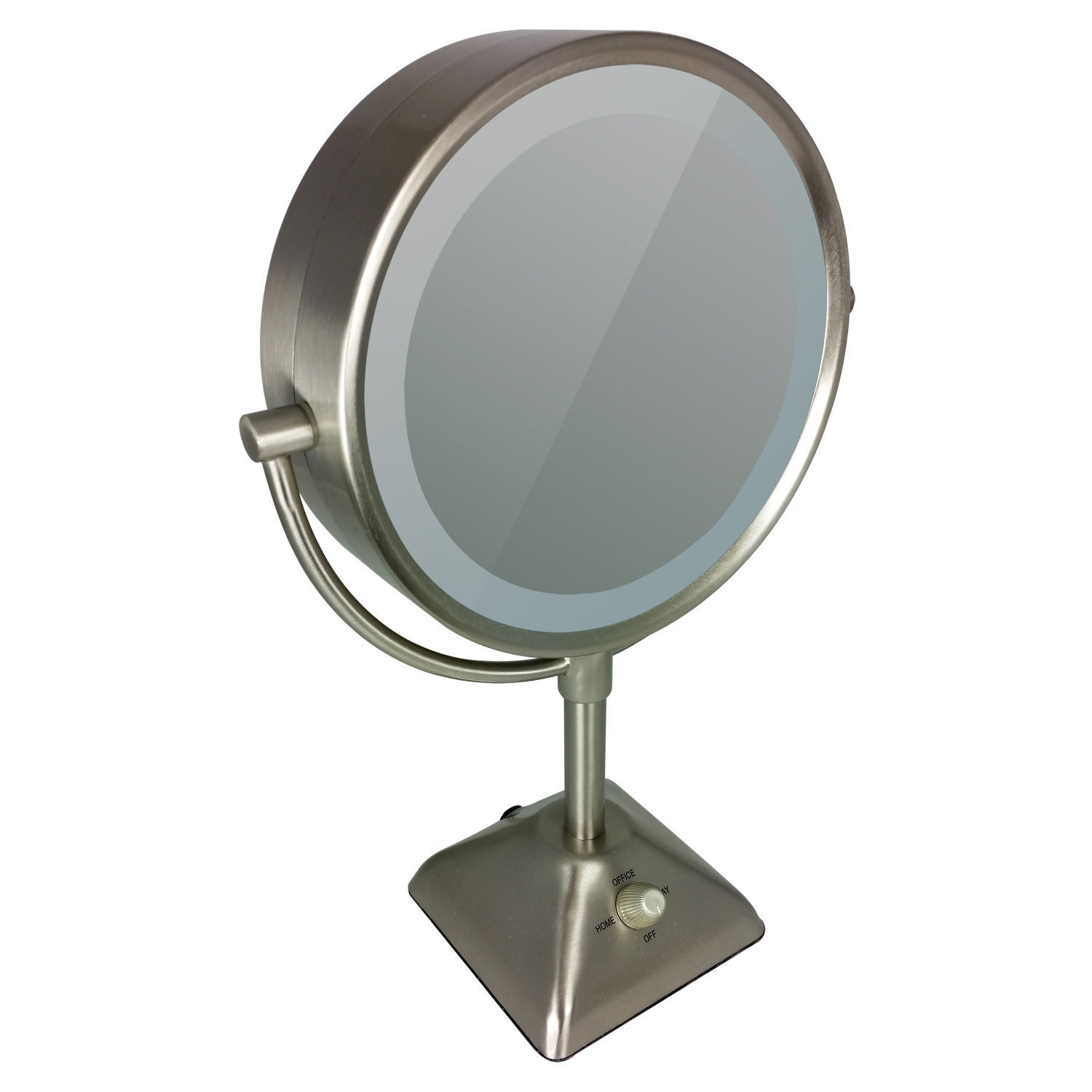 sided lighted makeup mirror with 10x magnification compact mirrors. Black Bedroom Furniture Sets. Home Design Ideas