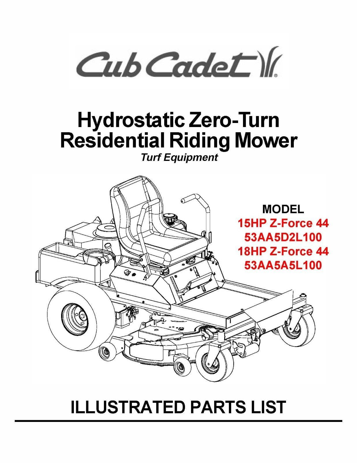 Cub Cadet Hydrostatic Zero Manual Guide