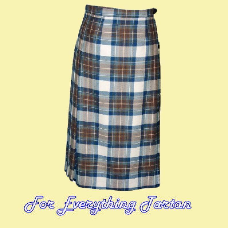 tartan kilted skirt wool womens lightweight pleated