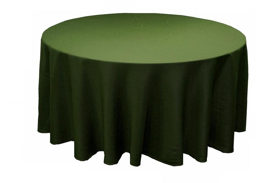 Willow Green Polyester Round Tablecloth Decorations 90