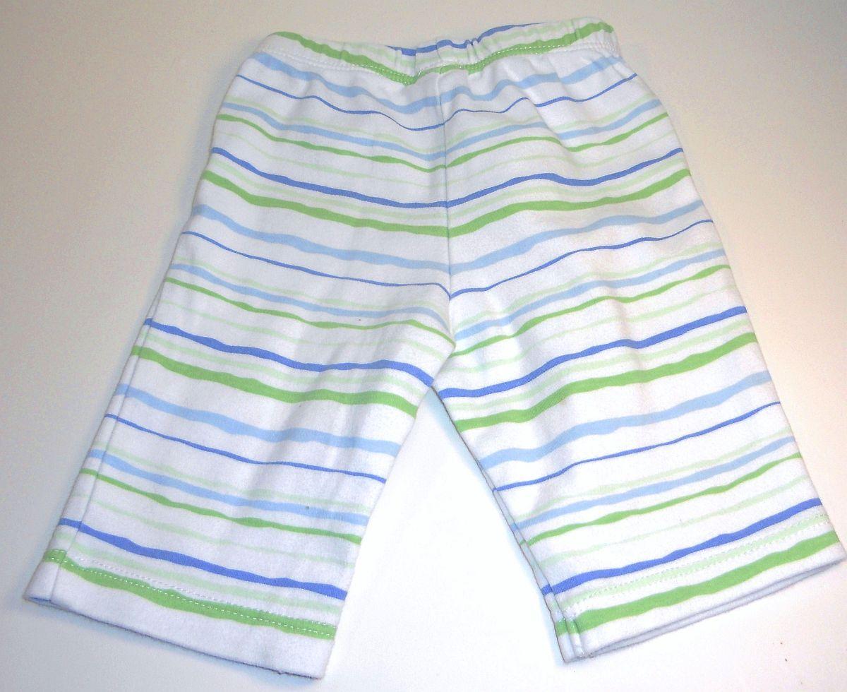 Image 3 of Garanimals blue onesie long sleeve moose striped pants New Born
