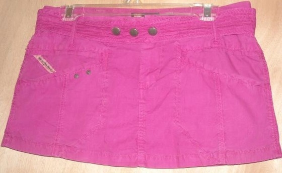 "Diesel Pink Mini Skirt with Belt Size 20 Fits Up To 33"" Waist Free Shipping"