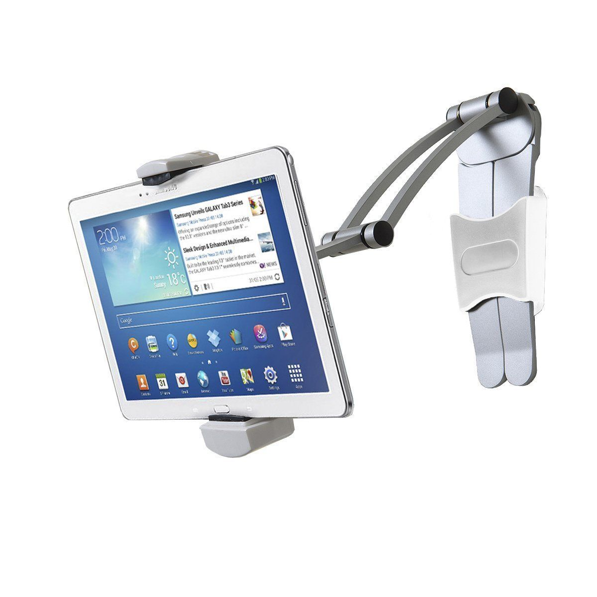 Tablet Ipad Mount Holder Stand Wall Adjustable Clamp