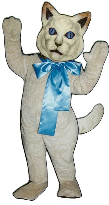 MADE TO ORDER PROFESSIONAL CUSTOM MADE WHITE CAT MASCOT COSTUME