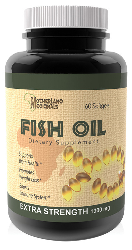 Fish oil 1300 mg 60 capsules herbal for Why should i take fish oil