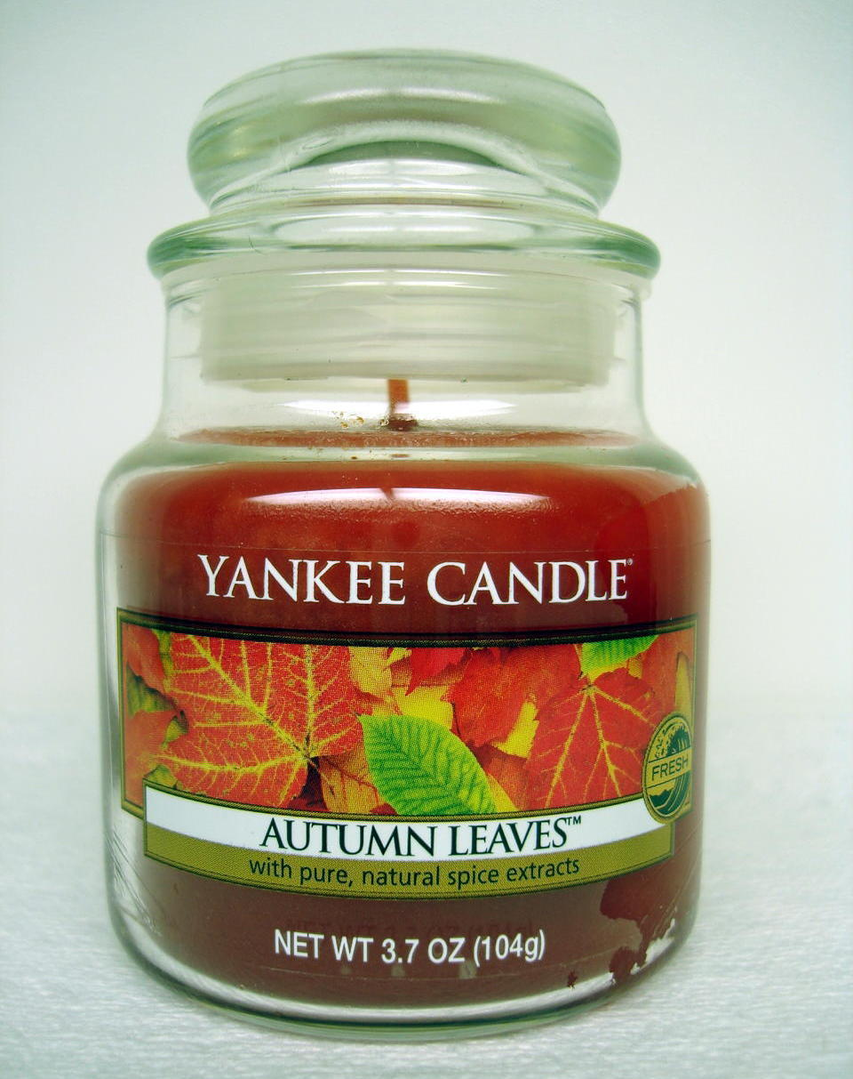Yankee candle autumn leaves scent small jar home decor gift candles