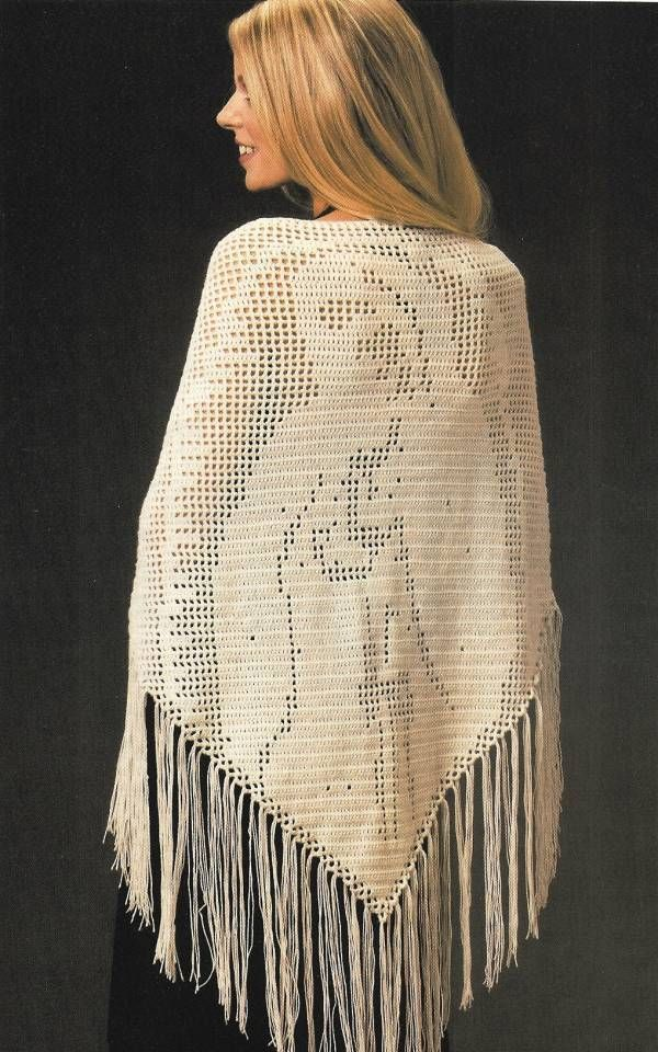 Crochet PATTERN ONLY Blessed Mother Prayer Shawl Pattern - Patterns ...