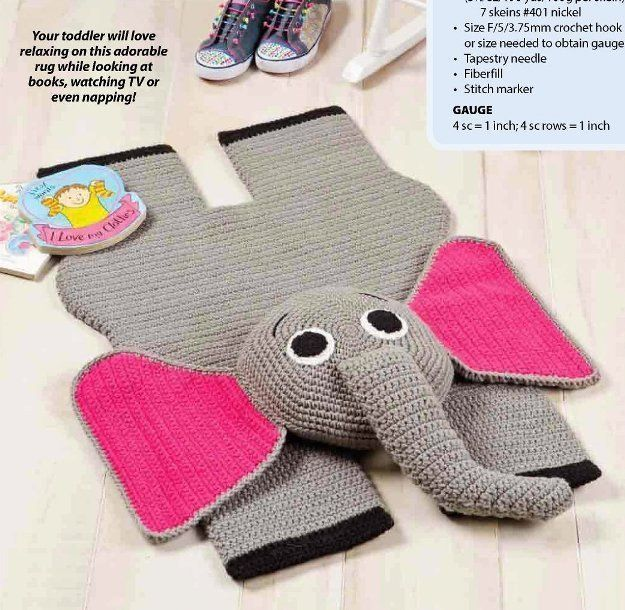 Crochet Patterns Elephant Rug : W881 Crochet Pattern Only Elephant Rug and 50 similar items