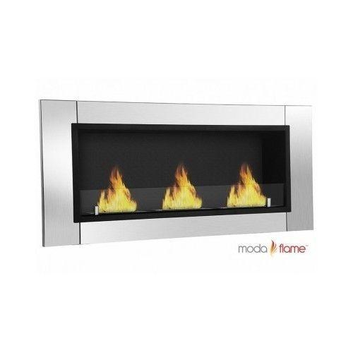 Ventless Fireplace Bio Ethanol Flame Wall Mount Mounted