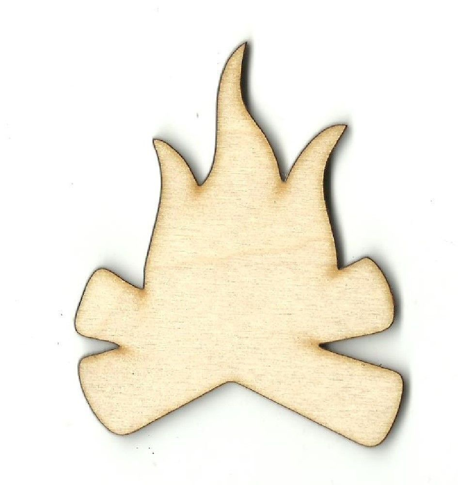 Campfire camping unfinished wood shapes craft supply laser for Unfinished wood pieces for crafts