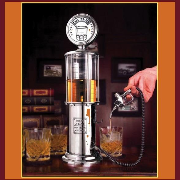 Single Shot Dispenser ~ Vintage fill r up clear gas station pump single shot gun