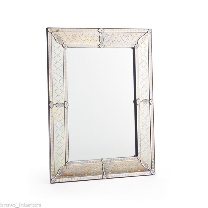 venetian mirror wall 4 feet tall cut glass classic venetian mirror ...