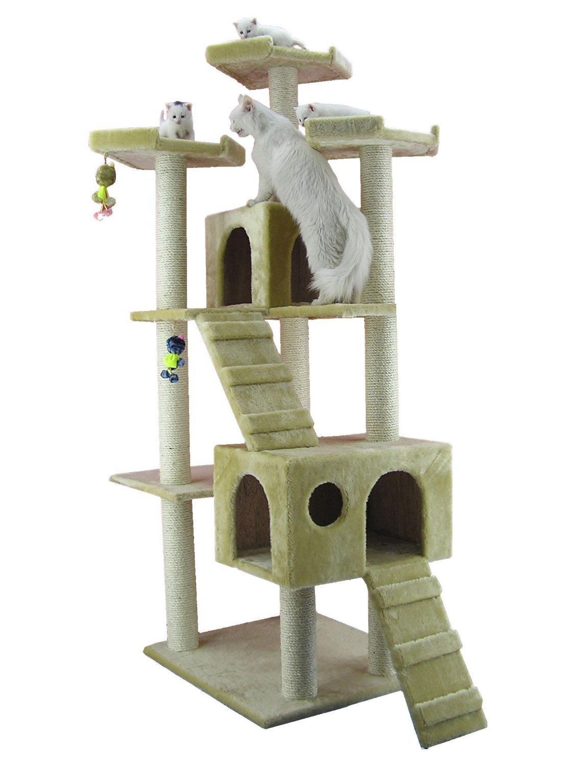 Cat tree furniture condo sleep play house fun exercise for Interesting cat trees