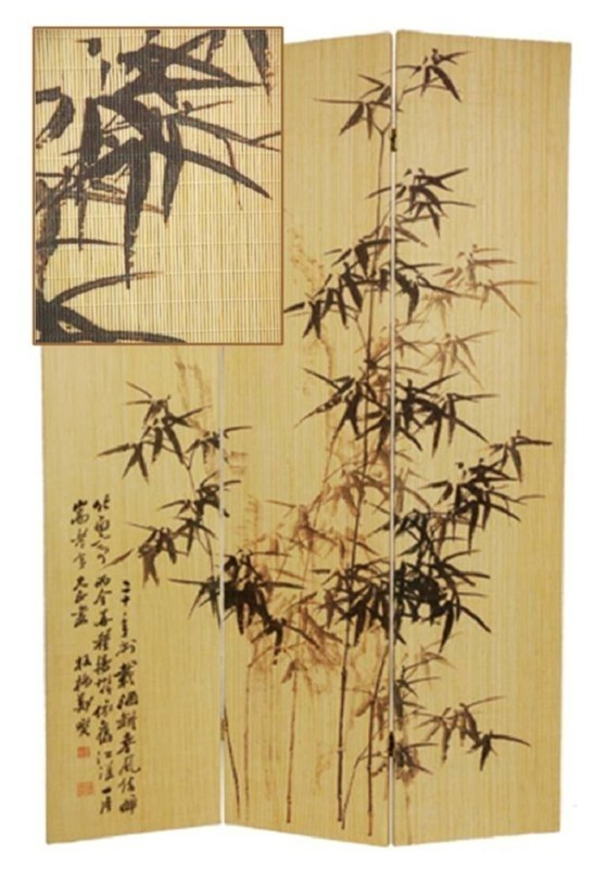 Bamboo Screen/Room Divider- Frameless Bamboo Plant