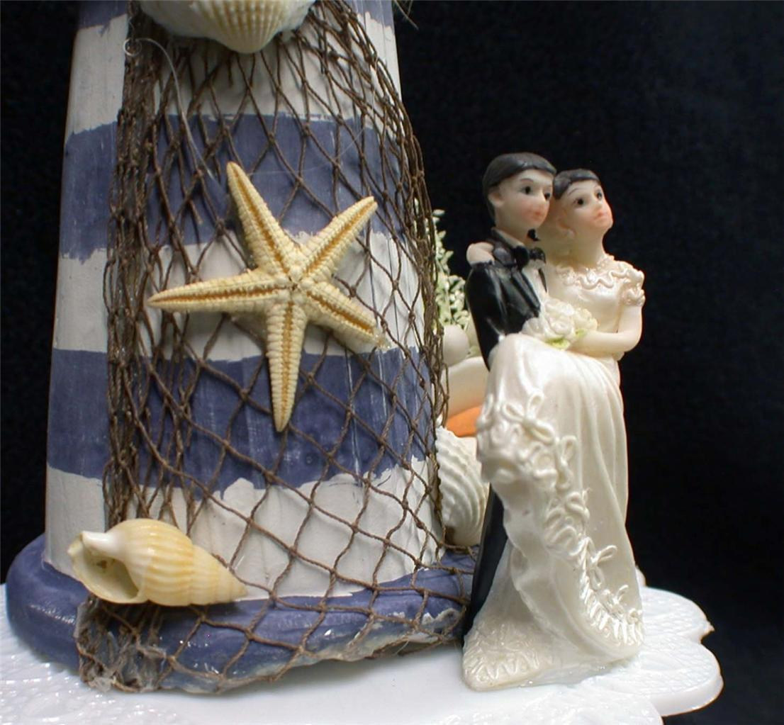 LIGHTHOUSE Wedding Cake Topper Light House Sea Beach Fuuny