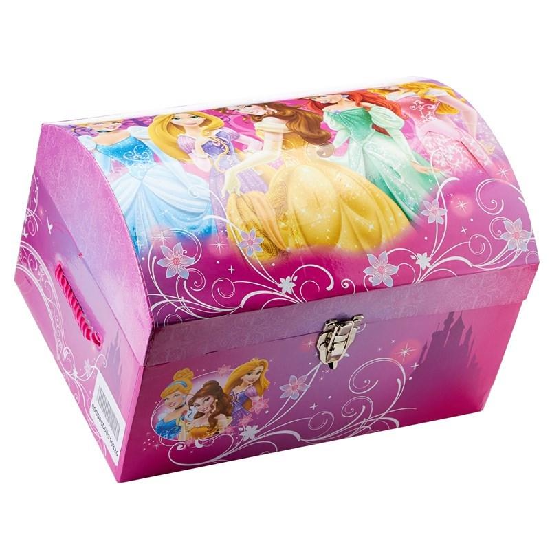 Disney Collapsible Storage Trunk Toy Box Organizer Chest: Disney PrinceSS Dress Up Storage Bin Trunk Chest Box [Toy
