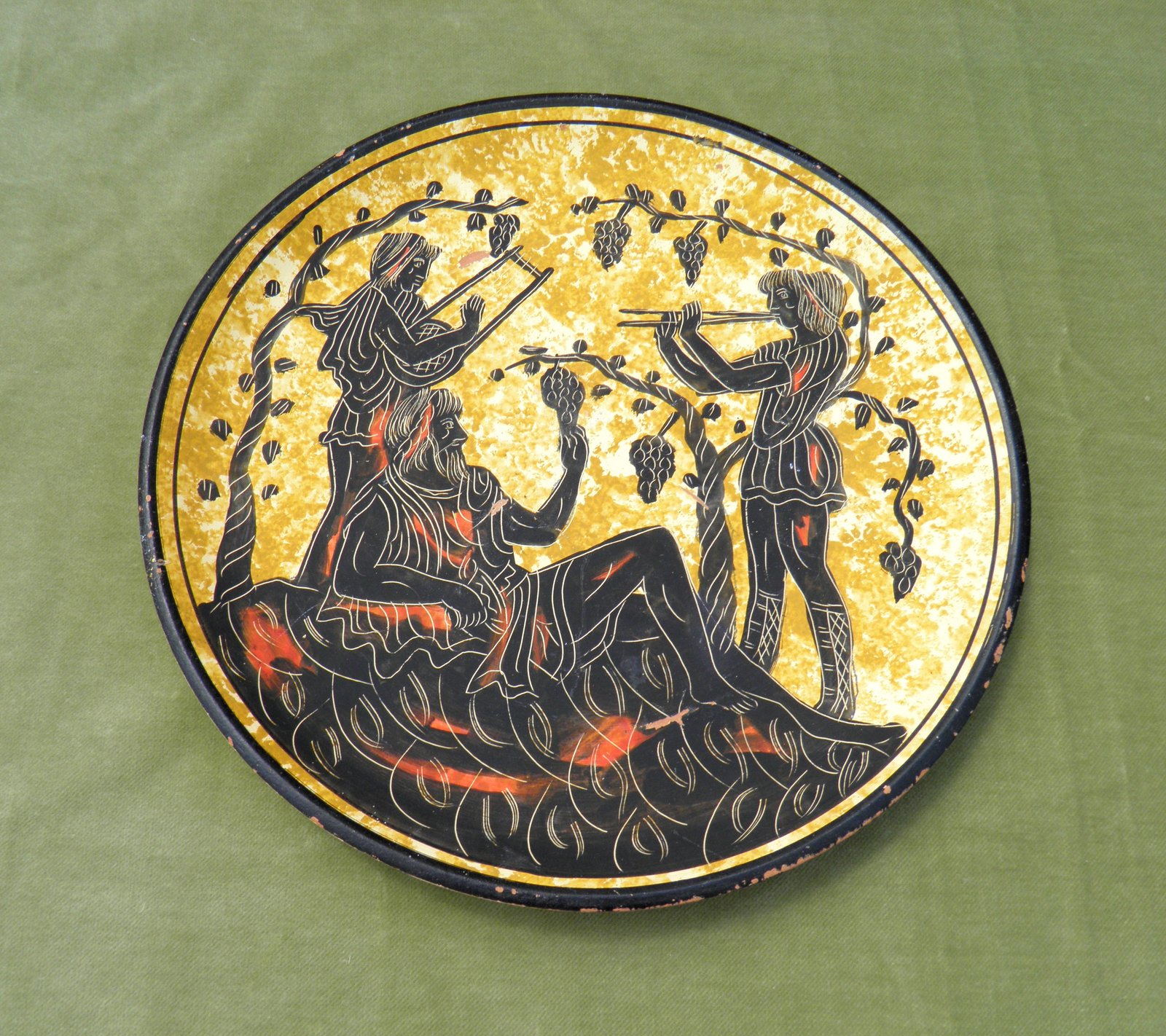 Decorative Wall Plates Nz : Hand painted wall plate from greece