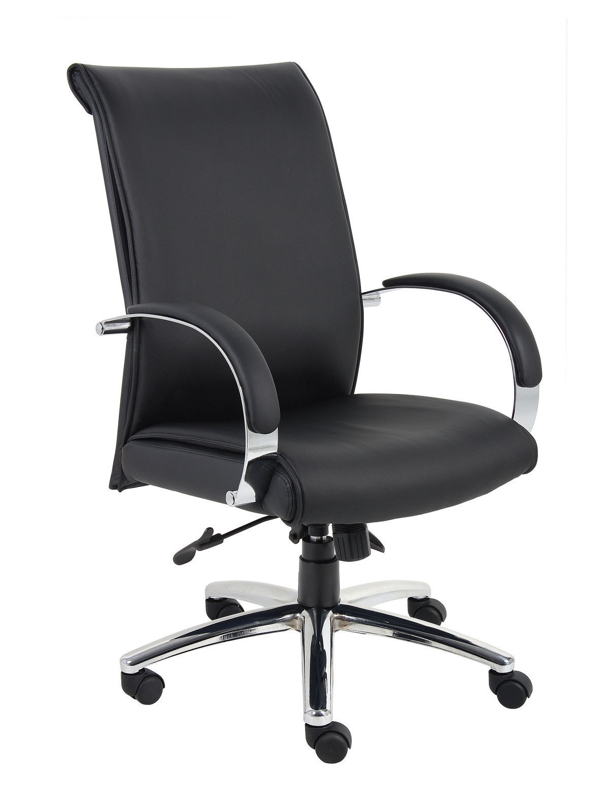 black caressoftplus executive series desk chair with wheels chairs