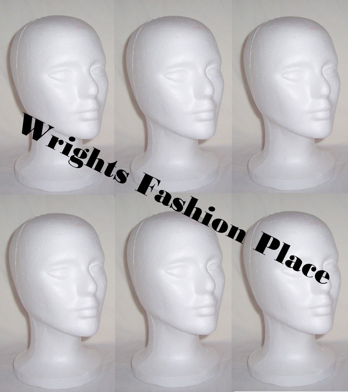 Styrofoam Wig Head Mannequin Hat Craft Display (6)