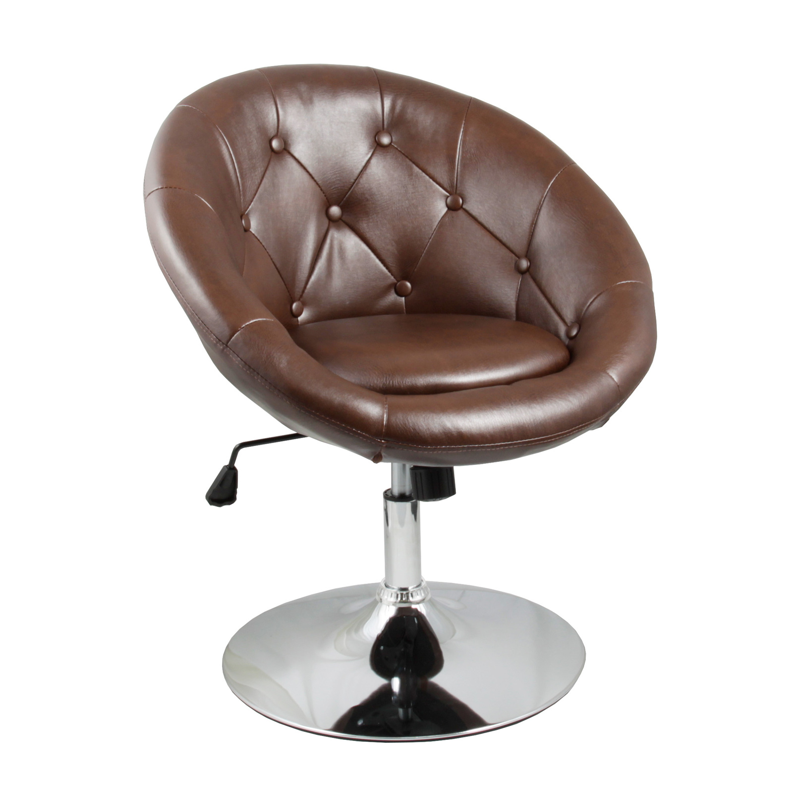 Apontus accent round back swivel chair brown chairs