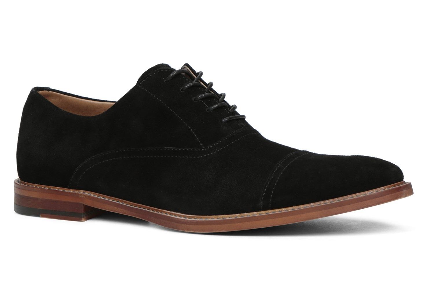 Handmade Mens Oxford Black Suede Leather Shoes Men Formal