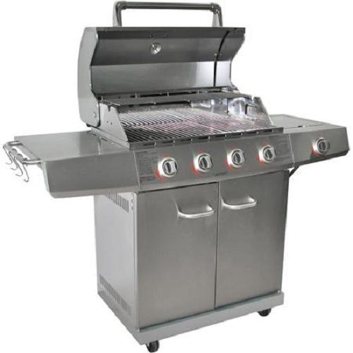 Gas grill side burner new stainless steel propane bbq