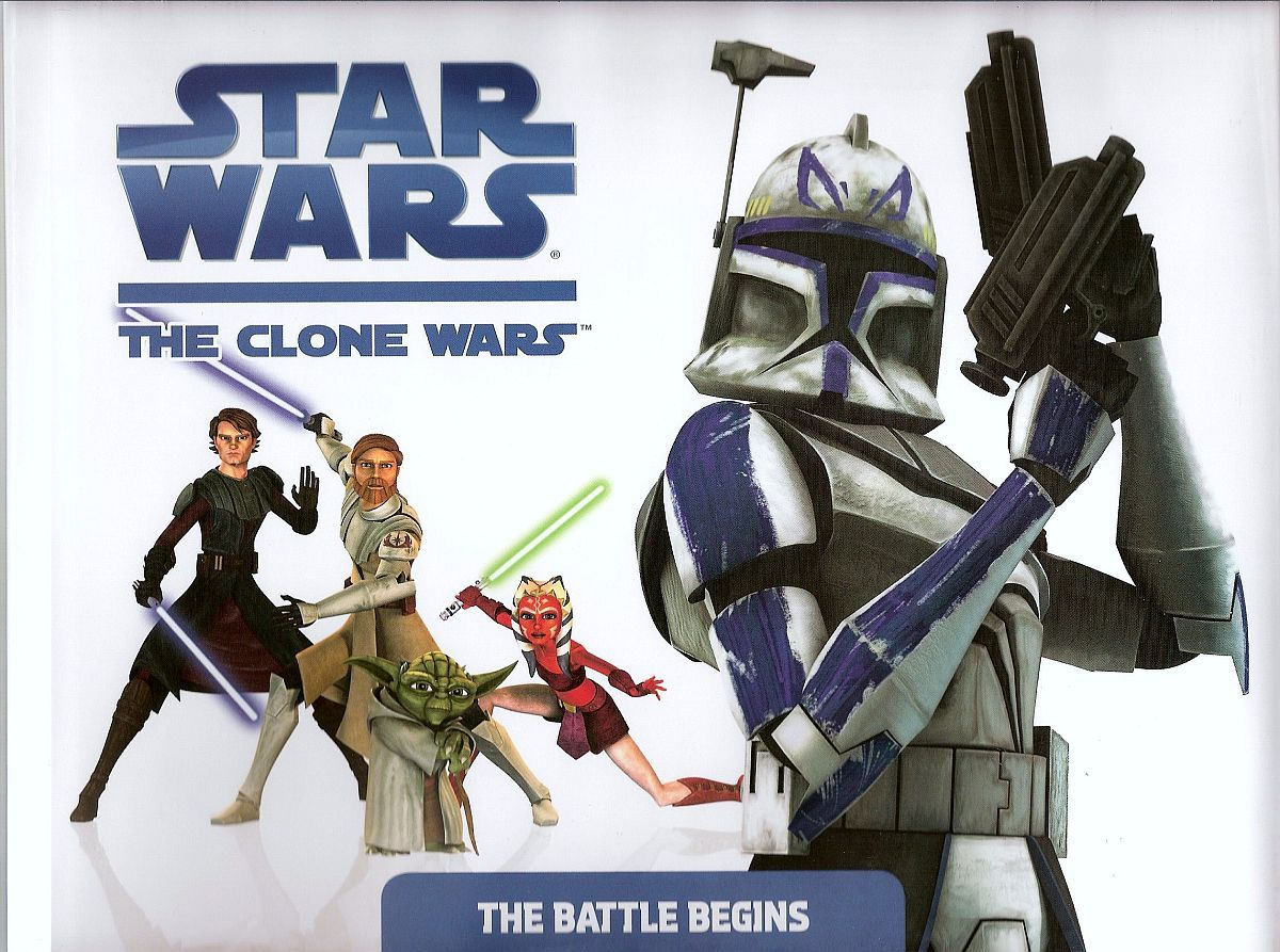Image 0 of The Battle Begins Star Wars The Clone Wars by Rob Valois HC 2008