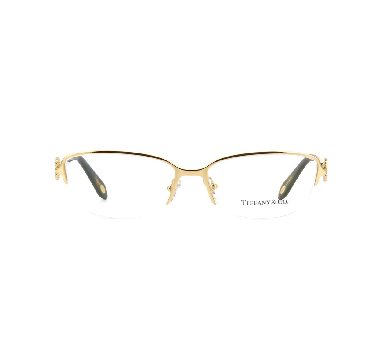 Rimless Gold Eyeglass Frames : New Authentic TF1106 6021 Tiffany & Co. Semi-Rimless ...