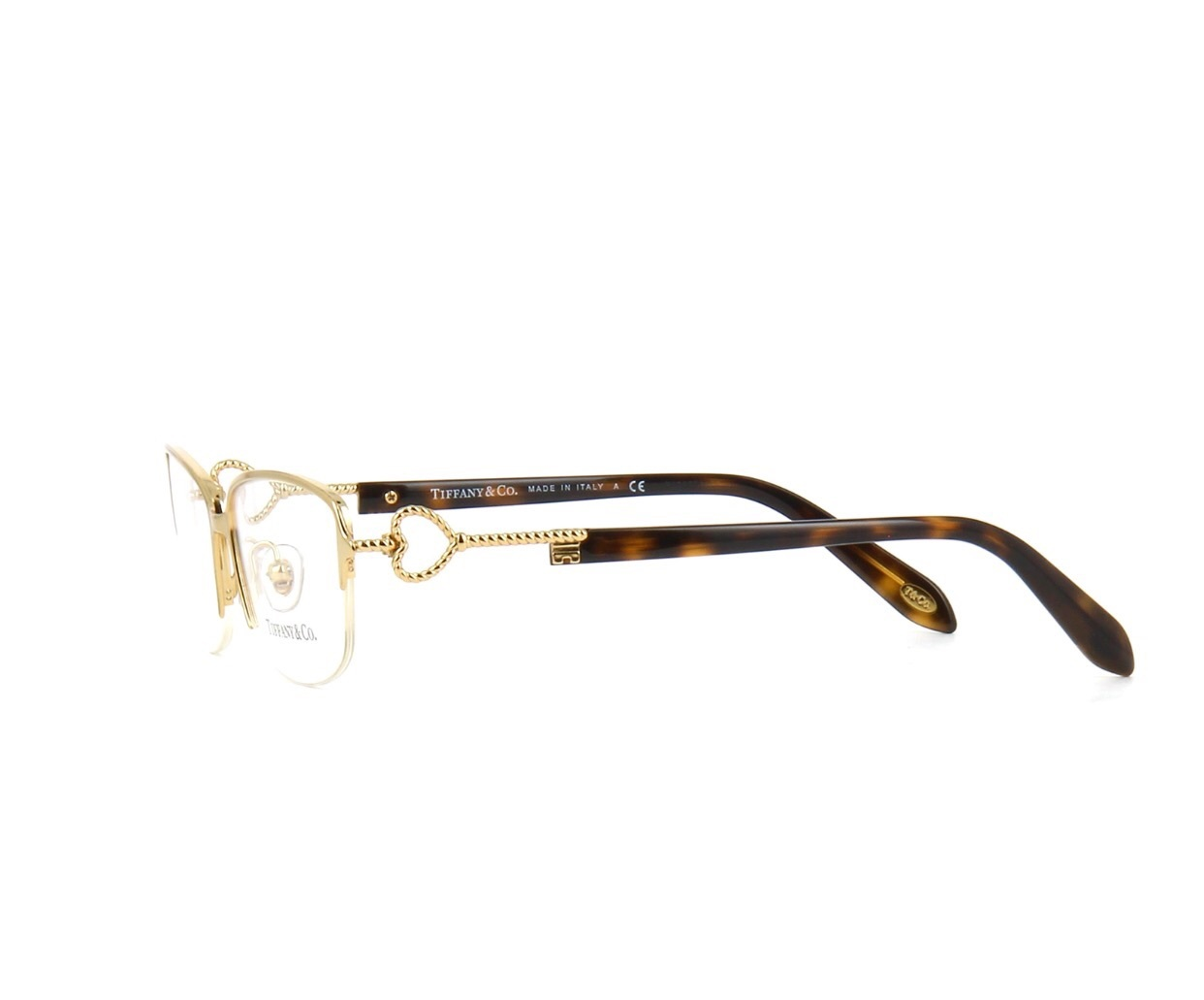 Rimless Gold Eyeglass Frames : Click picture to enlarge