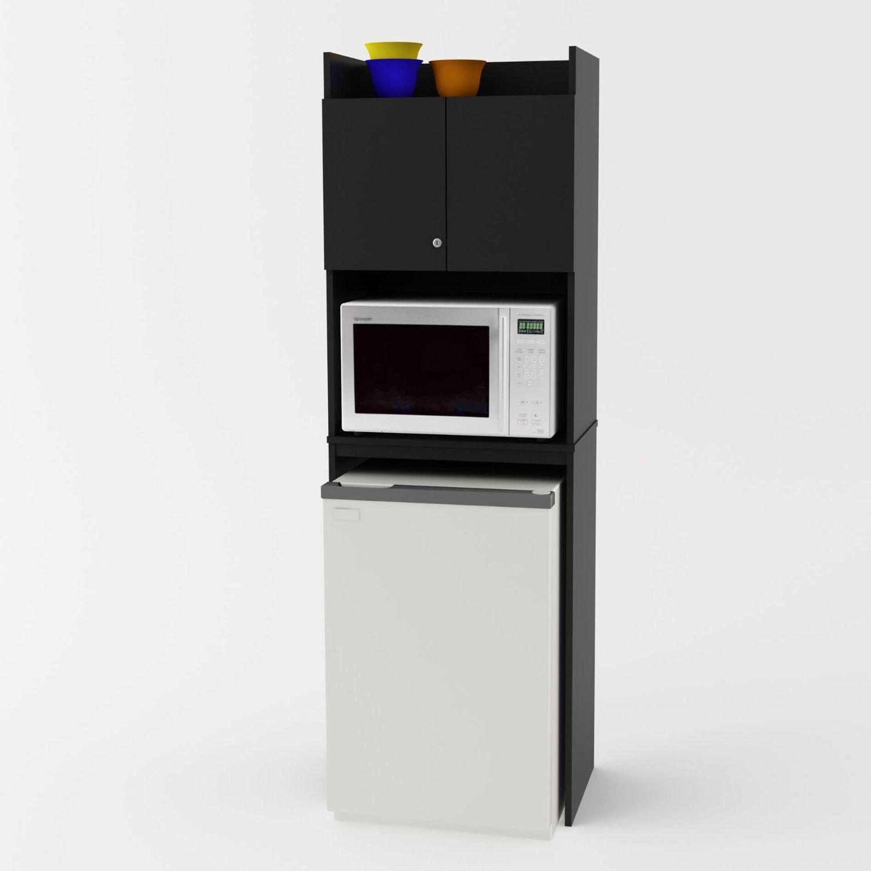 Mini Offices For Kitchen: Fridge Cabinet Freezer Microwave Storage Dorm Studio Den