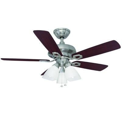 brushed nickel ceiling fan kitchen lamps lighting ceiling fans