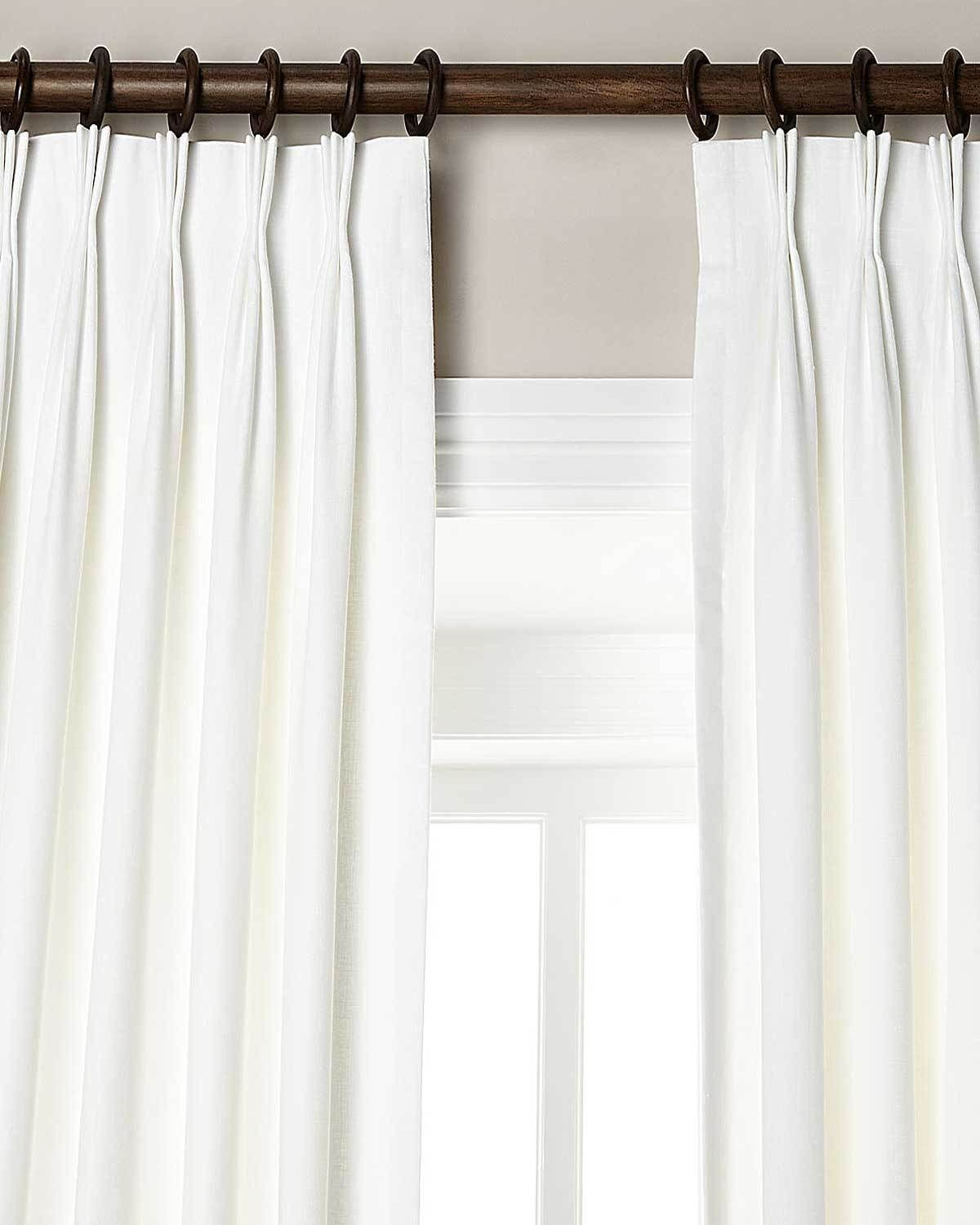 White Pinch Pleated Drapes