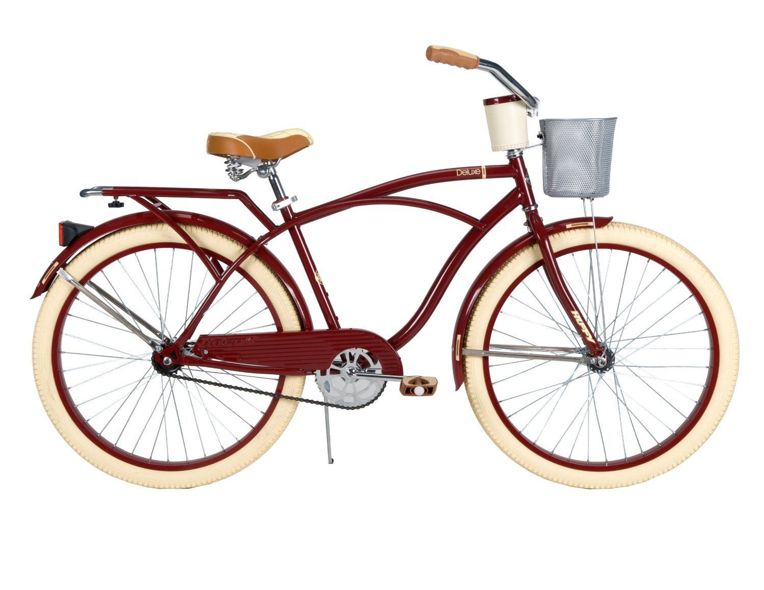 26quot Classic Vintage Cruiser Cycling Bike Beach Riding Bicycle W Storage