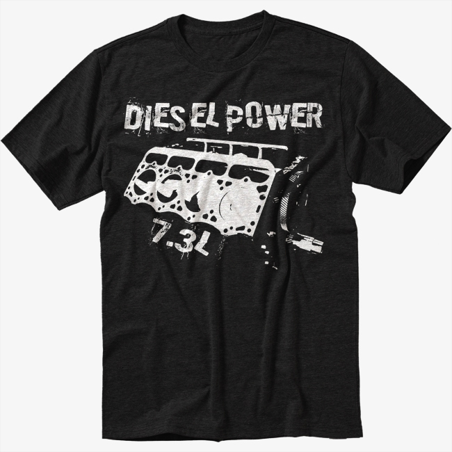 7 3l powerstroke power stroke dieasel power black tshirt for T shirt screen printing nyc