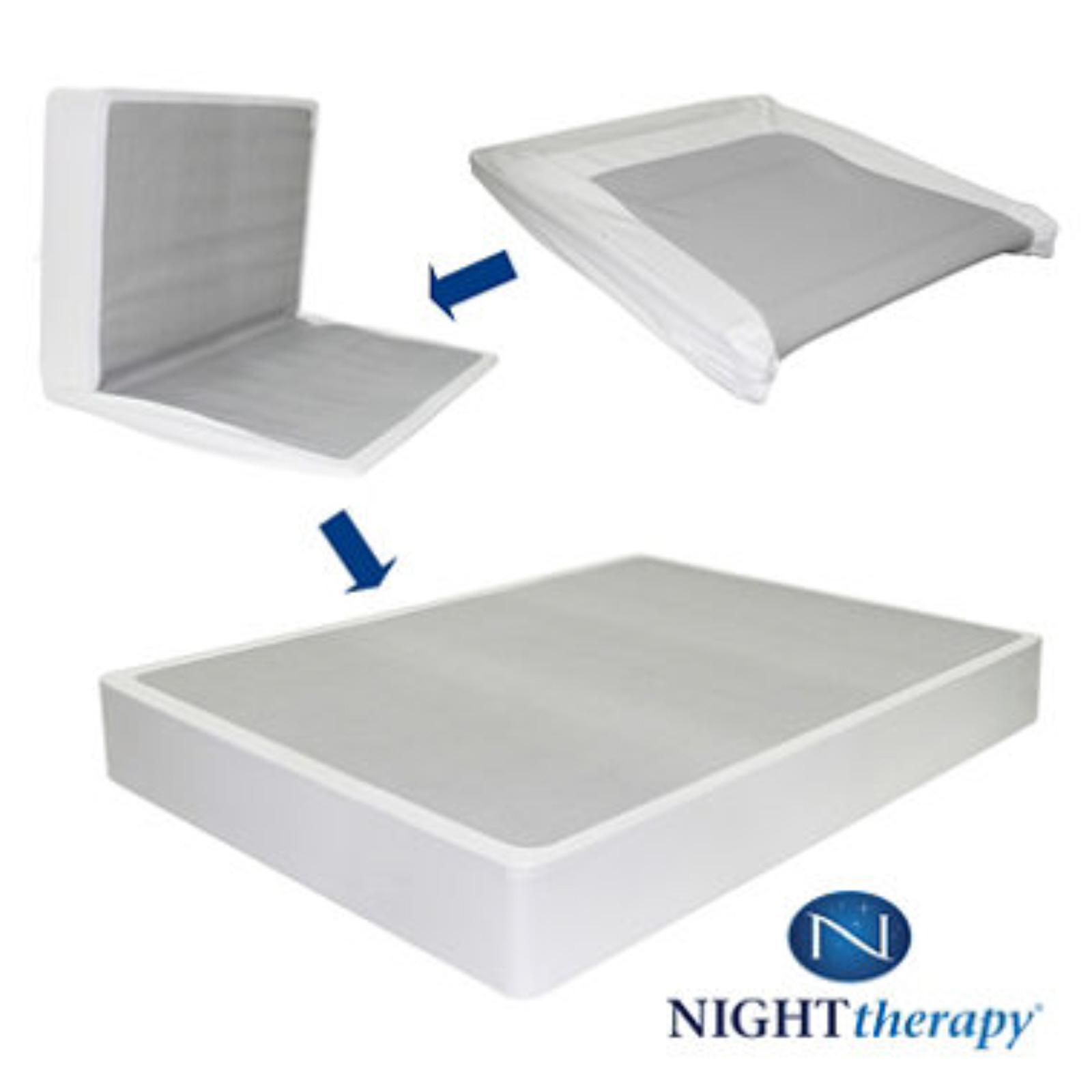 8 Night Therapy Spring Mattress Bi Fold Box Spring Set Xl Twin Bedroomfurniture Beds Mattresses
