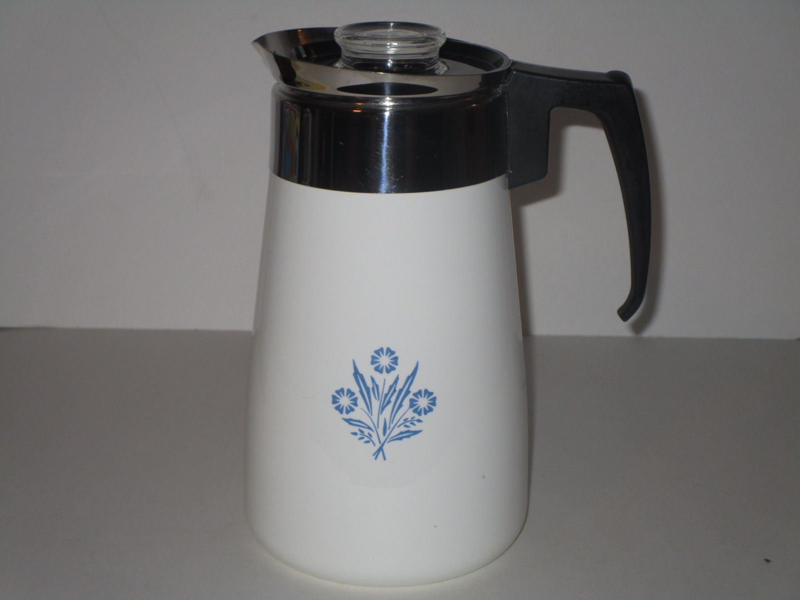 Vintage corning ware blue cornflower coffee pot 9 cup for Best coffee percolator