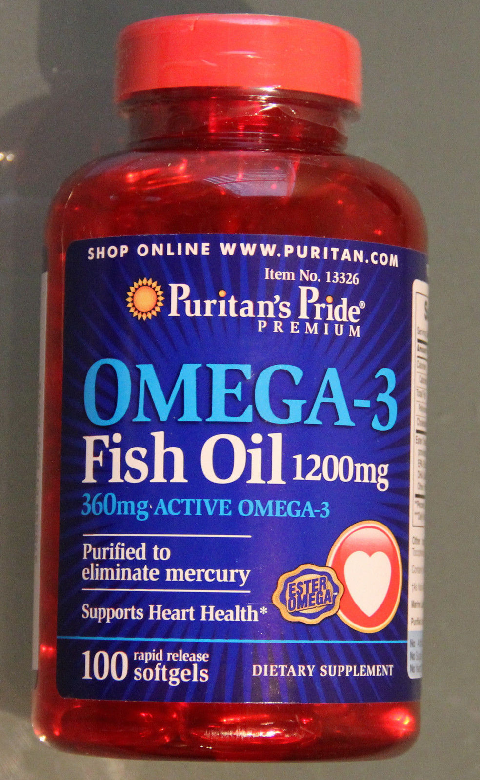 puritan 39 s pride omega 3 fish oil 1200 mg contain 360 mg