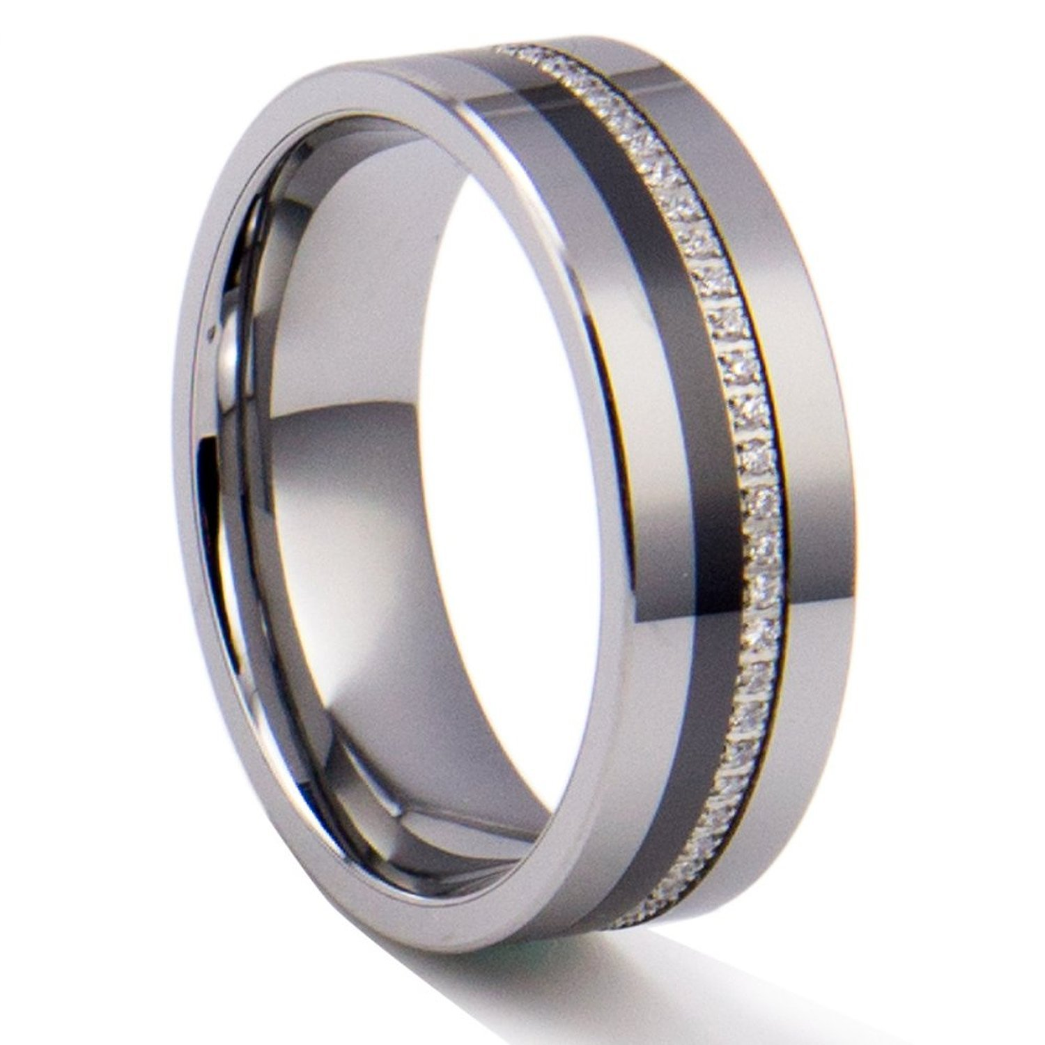 8mm Men's Tungsten Wedding Engagement Ring Band With. White Diamond Rings. Betterfly Wedding Rings. Grecian Engagement Rings. Person Rings