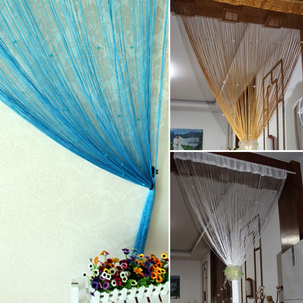 Bead curtain room divider - Beaded Curtain Room Divider Beaded String Curtain Door Room Divider Tassel Screen Panel Home