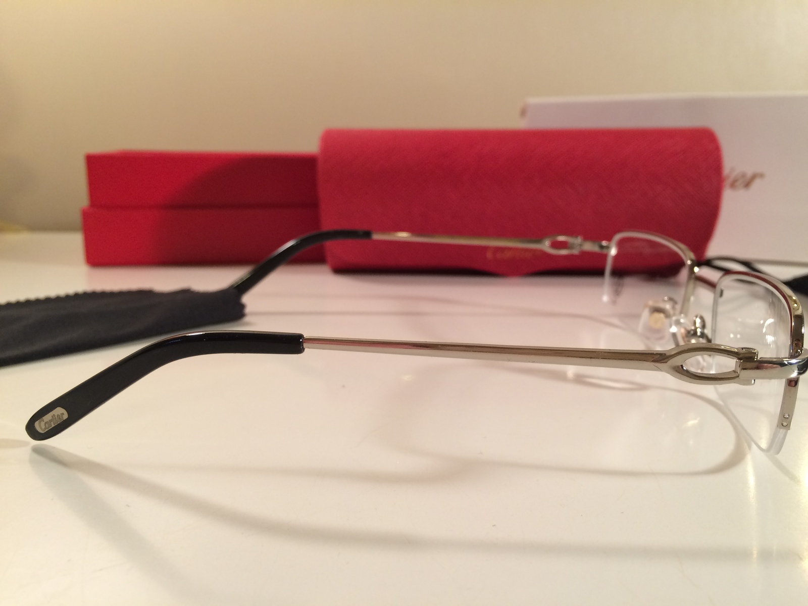 Rimless Glasses Nz : PRETTY CARTIER SILVER HALF RIMLESS PRESCRIPTION RX ...